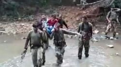 CRPF Personnel In Chhattisgarh Carry Sick Woman On Stretcher For 7