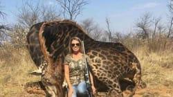 Cette chasseuse américaine fait (encore) scandale pour avoir tué une girafe