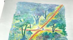Une fresque en hommage à Sempé en plein