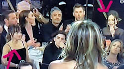 Jennifer Aniston presenta un premio ai Golden Globes, la reazione di Angelina Jolie è