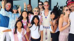 Laeticia Hallyday et ses filles ont fêté la victoire des Bleus à St