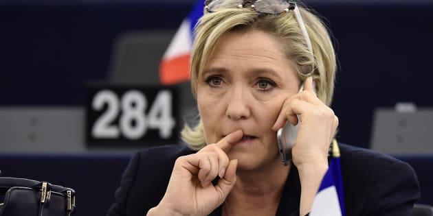 Marine Le Pen le 17 janvier au Parlement européen.