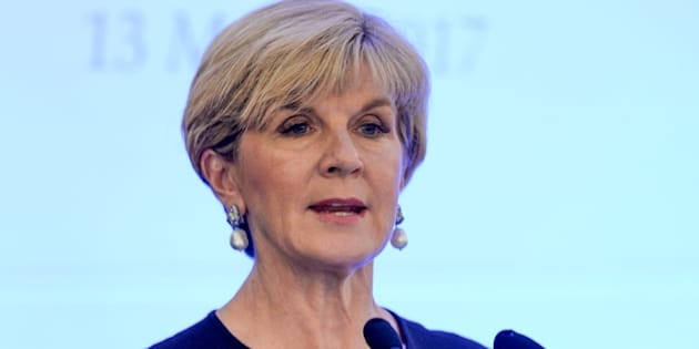 Julie Bishop says the US has not asked for extra help fighting IS in the middle east.