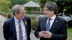 Puigdemont y Torra critican a los partidos que