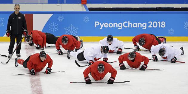 La formation canadienne à l'entraînement.