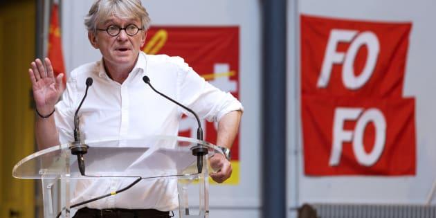 Jean-Claude Mailly, secrétaire général FO, en juillet 2016.