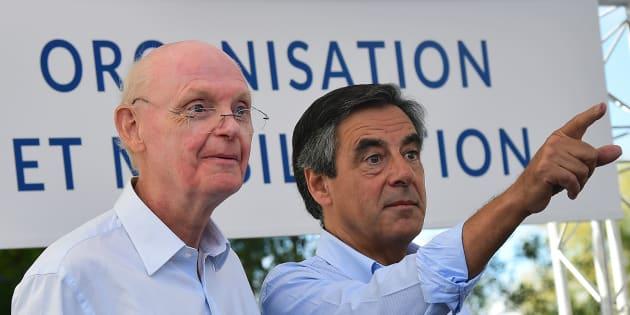 Patrick Stéfanini et François Fillon lors de la rentrée politique de ce dernier, fin août dans la Sarthe.