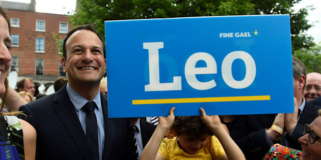 Leo Varadkar arrives at the count centre as it is announced that he won the Fine Gael parliamentary elections to replace Prime Minister of Ireland (Taoiseach) Enda Kenny as leader of the party in Dublin.