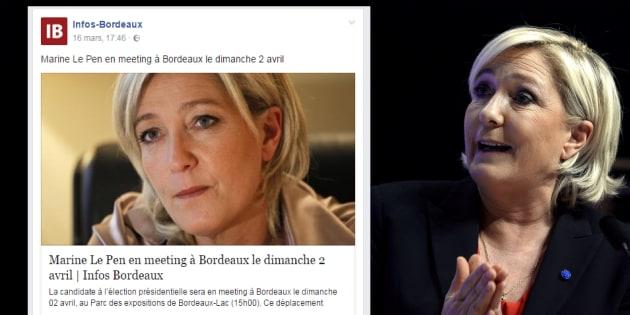 Marine Le Pen le 30 mars à Brest.