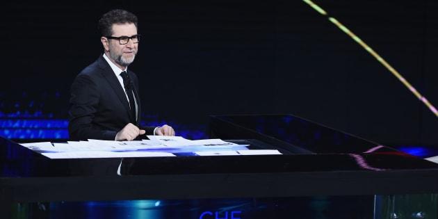 MILAN, ITALY - MARCH 25:  Tv presenter Fabio Fazio attends 'Che Tempo Che Fa' Tv Show on March 25, 2018 in Milan, Italy.  (Photo by Stefania D'Alessandro/Getty Images)