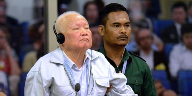 L'ancien khmer rouge Khieu Samphan au tribunal à Phnom Penh (Cambodge) le 16 novembre 2018.