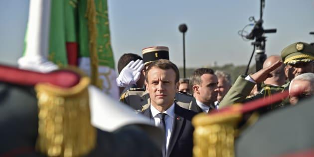 Le Président Emmanuel Macron en visite officielle à Alger, en décembre 2017.