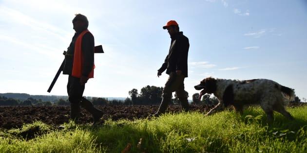 Des chasseurs photographiés dans le nord ouest de la France (photo d'illustration).