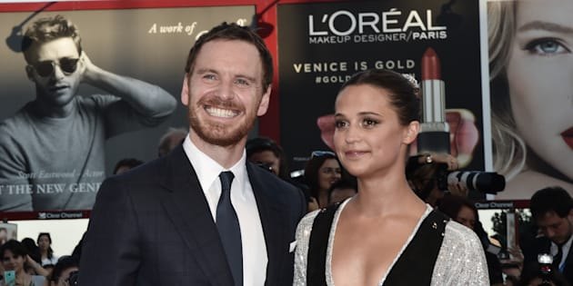 L'acteur britannique et la comédienne suédoise présents tous deux à Venise en 2014.