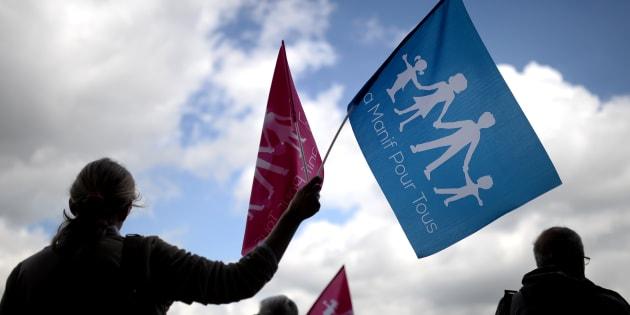 Une manifestation de La Manif pour tous, en mai 2016 à Nantes.