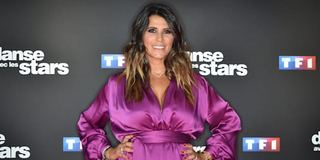 """Karine Ferri lors du lancement de la nouvelle saison de """"Danse avec les Stars"""", le télé-crochet de TF1 qu'elle anime."""
