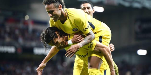 Neymar buteur et passeur décisif contre Guingamp pour son premier match avec le PSG