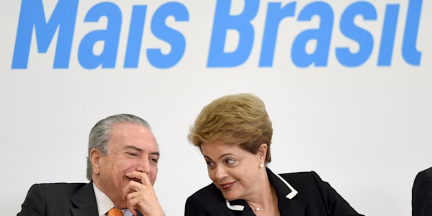 O MDB, do presidente Michel Temer, rompeu com o governo da então presidente Dilma Rousseff em março de 2016.