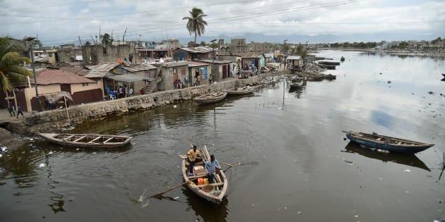 Le Cap-Haïtien au nord d'Haïti le 5 septembre, quelques heures avant le passage de l'ouragan Irma.