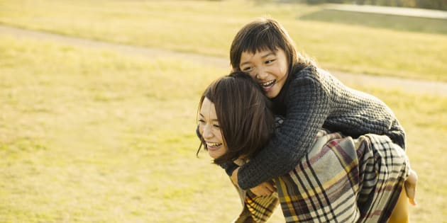 Mother and daughter having fun time in outdoors