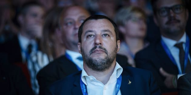 ROME, ITALY - JUNE 26: Italian Interior Minister Matteo Salvini(C) attends at the national meeting of 'Confartigianato' on June 26, 2018 in Rome, Italy. (Photo by Antonio Masiello/Getty Images)