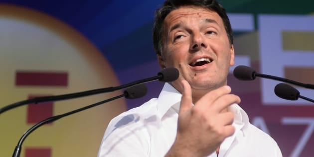 BOLOGNA, ITALY - SEPTEMBER 24:  Matteo Renzi Secretary of the italian Democratic Party (PD) gives a speech at the nationale Festa dell'Unita' on September 24, 2017 in Bologna, Italy.  (Photo by Roberto Serra - Iguana Press/Getty Images)