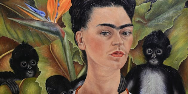 "Frida Kahlo's ""Self Portrait with Monkeys"" -- the equivalent of a modern selfie."