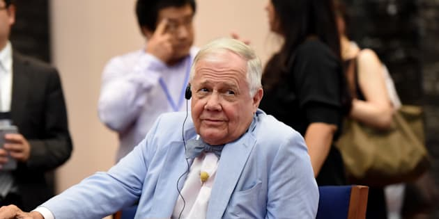Jim Rogers, American businessman, investor and author, attends an economic forum.