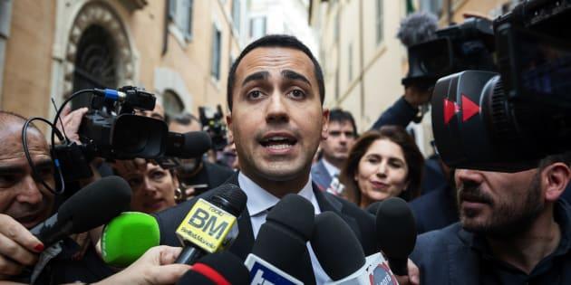 Luigi Di Maio, leader du Mouvement 5 Etoiles (M5S), à Rome le 10 mai 2018.