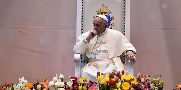 El papa Francisco, durante un acto con jóvenes en Ciudad Juárez, México, en 2016.