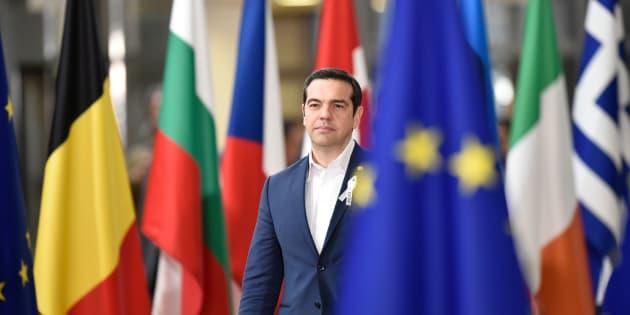 Le premier ministre de la Grèce, Alexis Tsipras, lors d'un sommet européen à Bruxelles en mars 2018