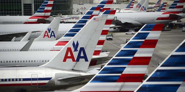 Aviones de American Airlines en el aeropuerto de Miami (EEUU), en una imagen de archivo.