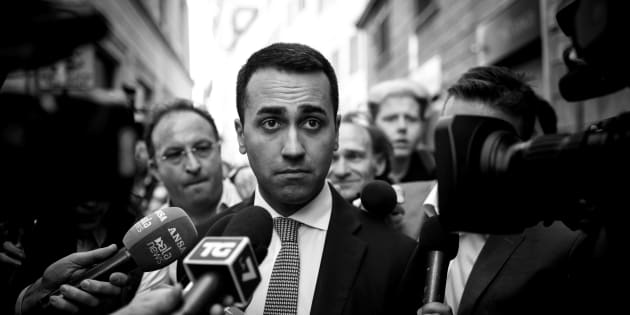 ROME, ITALY - APRIL 26: (EDITORS NOTE: Image has been converted to black and white.) Luigi Di Maio, Leader of 5-Star Movement (M5S) leaves the parliament after a new day of meetings for the formation of the new government on April 26, 2018 in Rome, Italy. Chamber of Deputies President Roberto Fico (not in picture) after a reporting back to Italian President Sergio Mattarella on his exploratory mandate said that dialogue on possible government formation has been started between the anti-establishment 5-Star Movement (M5S) and the centre-left Democratic Party (PD) and now we must await a PD executive meeting on May 3. (Photo by Antonio Masiello/Getty Images)