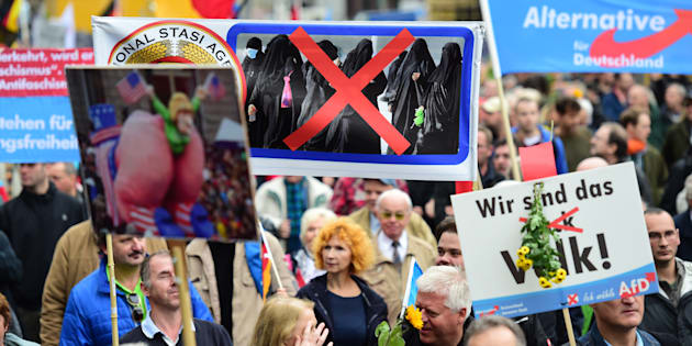 Une manifestation de l'AfD contre la politique migratoire d'Angela Merkel à Berlin, le 7 novembre 2015