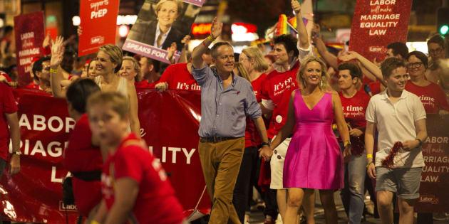 Labor leader Bill Shorten at the 2016 Mardi Gras