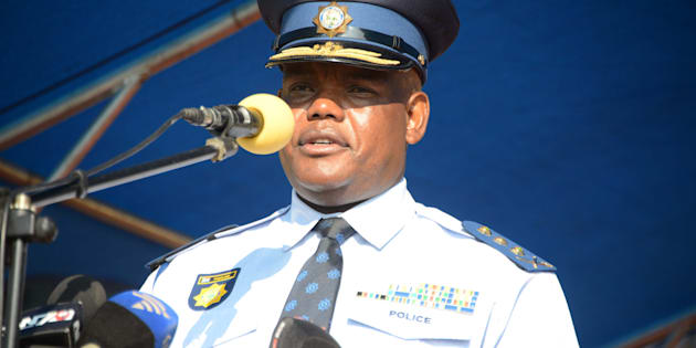 PRETORIA, SOUTH AFRICA; APRIL 04: Acting national police commissioner Khomotso Phahlane during his official welcoming parade on April 04, 2017, in Pretoria, South Africa. (Photo by Gallo Images / Frennie Shivambu)