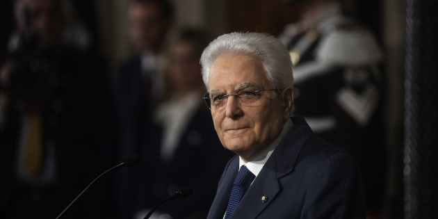 ROME, ITALY - APRIL 05: Italian President Sergio Mattarella speaks to journalists after a meeting with political parties on the second day of consultations for the formation of the new government on April 5, 2018 in Rome, Italy. (Photo by Antonio Masiello/Getty Images)