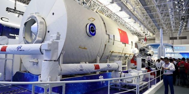 La future station spatiale de la Chine a été dévoilée ce mardi 6 novembre, lors du Salon d'aéronautique et d'aérospatiale de Zhuhai.