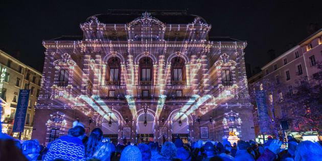 La Fête des Lumières à Lyon en décembre 2013.