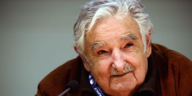 José Alberto Mujica Cordano, expresidente de Uruguay, durante la presentación del libro 'Una Oveja Negra al Poder en Bolonia, Italia, el 8 de noviembre, 2016.