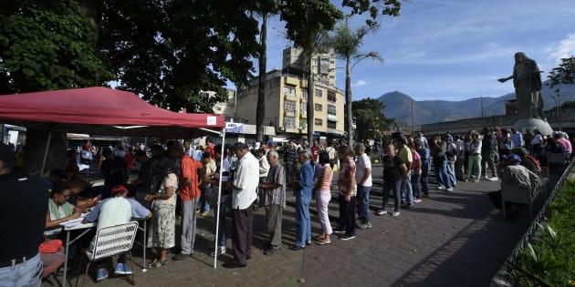 Pourquoi ces tentes rouges ont fait polémique lors de l'élection au Venezuela.