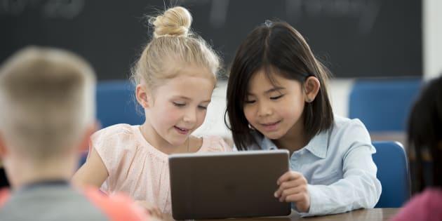 Le numérique à l'école, un investissement d'avenir. Illustration