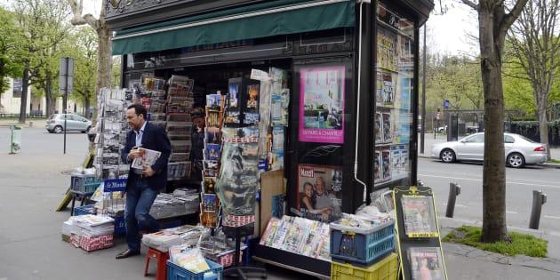 Un kiosque à journaux parisien (photo d'illustration).