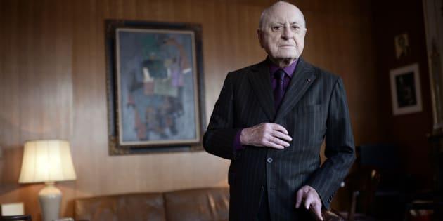 Sa myopathie, Pierre Bergé en parlait et c'est aussi pour ça qu'il a critiqué le Téléthon (Pierre Bergé en février 2015)