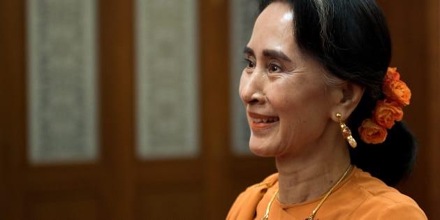 Aung San Suu Kyi, cheffe du gouvernement birman.