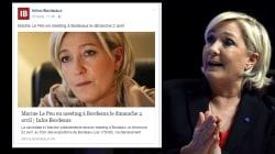 En meeting à Bordeaux, Marine Le Pen peut compter sur le soutien d'un média local très