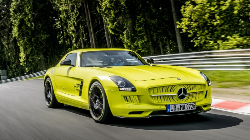 Electrification Is Nothing New For Mercedes Amg A Few Years Ago Back When The Gullwinged Sls Was Still Company S Flagship Sports Coupe