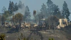L'incendie du luxueux quartier américain de Bel-Air causé par un campement