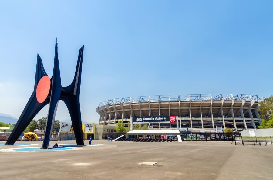 Vista del Estadio Azteca.