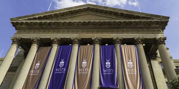 Johannesburg, South Africa - February, 22nd 2015: Great Hall on East campus at Wits University seen close up with the pillars in parthenon design.  This university is situated north of the city centre with many campuses.
